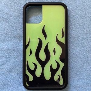 iPhone 11 Wildflower Neon Flames Case